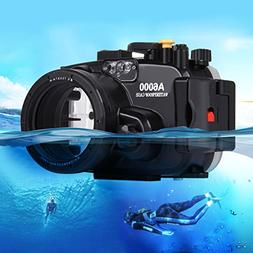 Camera Underwater Housing, PULUZ for SONY a6000 40m 130ft Wa