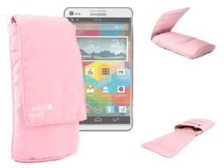 DURAGADGET Water Resistant Pink Cushioned Pouch With Belt Lo