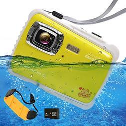 Waterproof Digital Camera for Kids, ISHARE Kids Camera 12MP