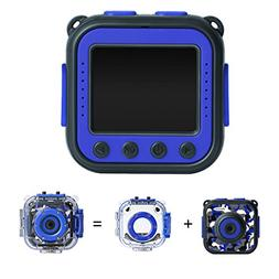 PROGRACE Kids Waterproof Camera Action Video Digital Camera