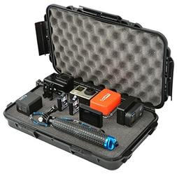 Waterproof Action Camera Case Hard Case with Pre-Cubed Foam