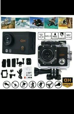 WaterProof Camera Full HD, Sport Action, with accessories as