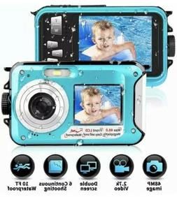 Waterproof Camera Underwater Camera 10 FT 2.7K Full HD 48MP