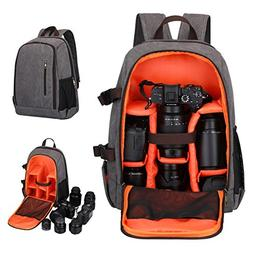 S-ZONE Professional Waterproof Canvas Camera Bag Backpack fo