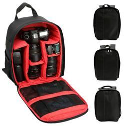 Waterproof Digital DSLR Camera Backpack Case Shoulder Bag fo