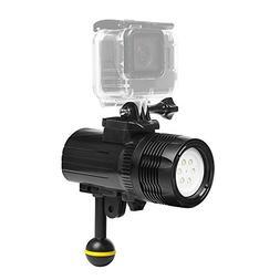 T.Face Waterproof LED Diving Light for Gopro Hero 6 5 3 4 h9