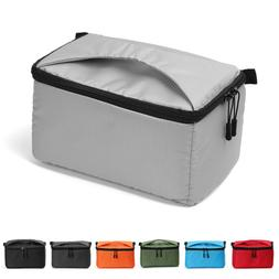 Waterproof DSLR SLR Camera Bag Padded Partition Insert Case