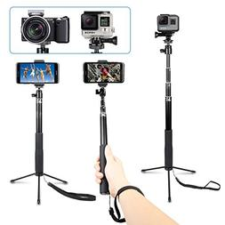 AnKooK Waterproof Extendable Selfie Stick with Universal Min