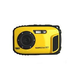 KINGEAR 2.7 Inch LCD 16 MP Waterproof Digital Camera-Yellow