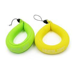 TELESIN Waterproof Camera Float,Floating Foam Wrist Strap 2-