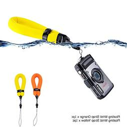 2 Pack Waterproof Camera Float Strap for Fujifilm XP130 XP12
