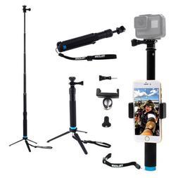 Waterproof Handheld Monopod Tripod Gopro Selfie Stick Pole f