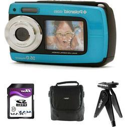 Vivitar Waterproof 18.1MP Digital Camera IE085 - Blue w/ Acc