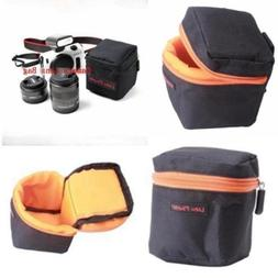 Waterproof Mirrorless Camera Lens Bag Padded Pouch Protector