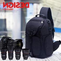 Waterproof Nylon Camera Sling Backpack Bag for Canon Nikon S