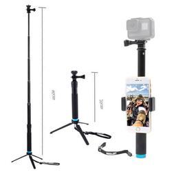 Waterproof Portable Monopod Tripod Gopro Selfie Stick Pole f