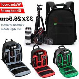 Waterproof Shockproof SLR DSLR Camera Zipper Bag Case Backpa