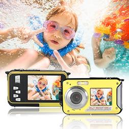 Waterproof Underwater Digital Camera,24MP 1080P Dual Screen