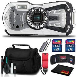 RICOH WG-40W Waterproof Digital Camera with Memory Kit, Floa