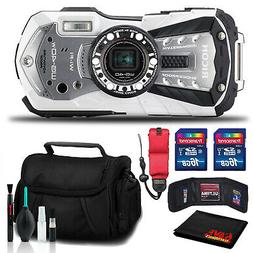 RICOH WG-40W Waterproof Digital Camera with Padded Case and