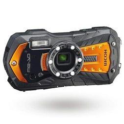 RICOH WG-70 Digital Camera Orange 16MP 5x Optical Zoom Lens