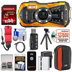 Ricoh WG-50 Waterproof/Shockproof Digital Camera  with 64GB