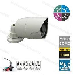 "White 1/3""sony-Effio CCTV Bullet Camera IR Matel Outdoor Wat"