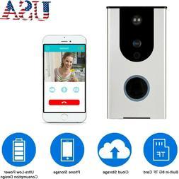 Wi-Fi Video Doorbell Camera 8GB TF Card Cloud Storage Waterp