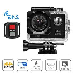 4K WIFI Sports Action Camera, Beafup 4K Ultra HD Waterproof
