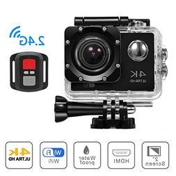 4K WIFI Sports Action Camera, Beafup 4K Ultra HD Waterproof