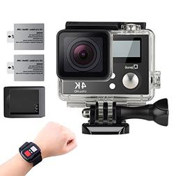 4K Wifi Sports Action Camera,Underwater Camcorder Qipexeii D