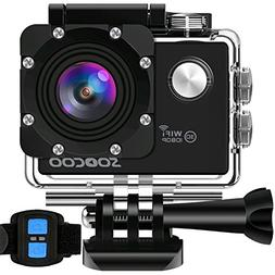 WIFI Action Camera, SOOCOO Waterproof Sport Camera 12MP FHD