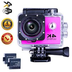Action Camera 4K WIFI Sports Camera 12 MP Underwater Video w