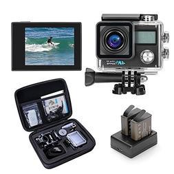 Darkeep WIFI 4K Sports Action Camera 16M 2 Inch 0.96 Inch LC