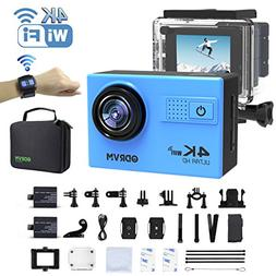 4K WiFi Action Camera Remote Waterproof 30m Underwater Camer