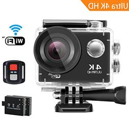 SENDOW 4K WiFi Sports Action Camera UHD 170° Wide-Angle 30M