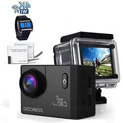 4k WIFI Sports Action Camera, SOOCOO C30R Action Camera Wate