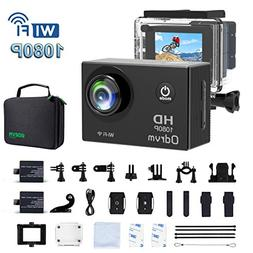 2.0-Inch WiFi Underwater Camera 12MP Sports Action Camera Di