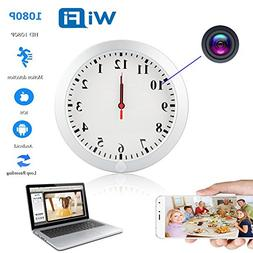 YCTONG WIFI Wall Clock Hidden Spy Camera HD 1080P Wireless H