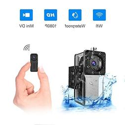 WiFi Waterproof Mini Hidden Spy Camera, NIYPS HD 1080P Under