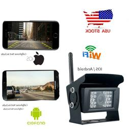 WiFi Wireless Waterproof Rear View Backup Camera 28IR LED Fo