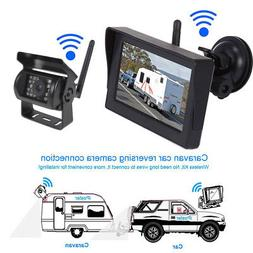 "Wireless 5"" Waterproof Backup Camera Monitor Kits For Semi-T"