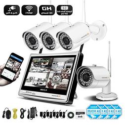 【Newest Strong Version WiFi】 Jennov Security Camera Syst