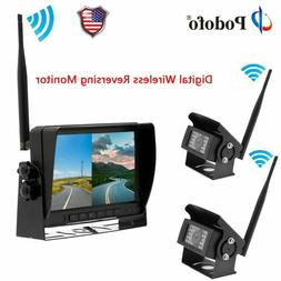 "Wireless Digital Waterproof Backup Camera + 7"" Split Screen"