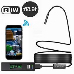 Opard 1200P HD Wireless Endoscope WiFi Borescope 8mm Inspect