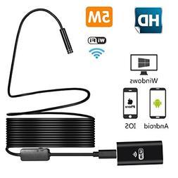 Wireless Endoscope, Inspection camera 2.0 MP HD Semi-rigid W