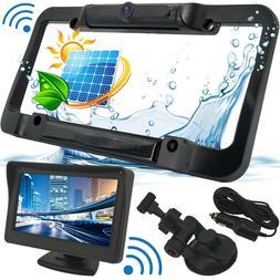 Wireless Waterproof HD Solar License Plate Rear View Backup