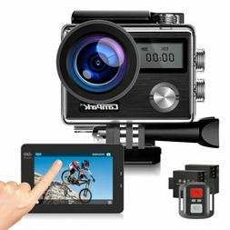Campark 4K 20MP Action Camera Touch Screen Waterproof Underw