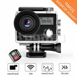 Campark X20 4K Action Camera Touch Screen 20MP SONY Image Se