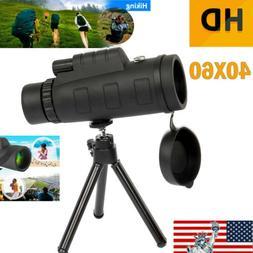 Zoom Hiking Monocular Lens Camera HD Scope Hunting 40 X 60 T